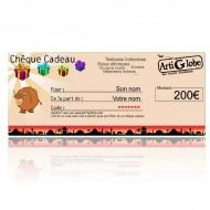 Chèque cadeau 200€ par email