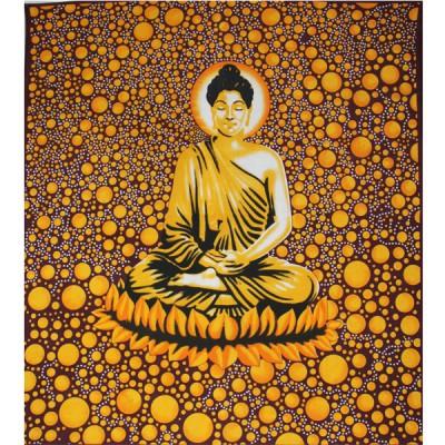 """Tenture Indienne """"Bouddha"""" (tgm111)"""