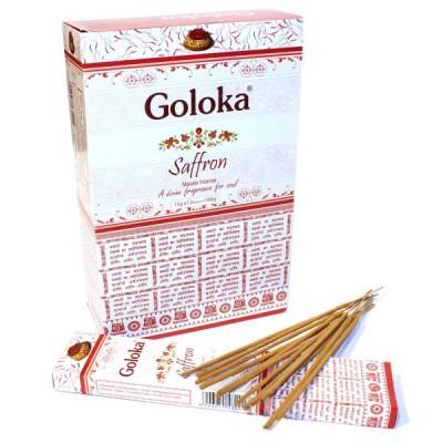 """Encens indien """"Goloka Saffron"""" (golsaffron12-15)"""