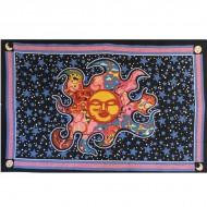 Tenture Murale noire Soleil - Tenture astrologie