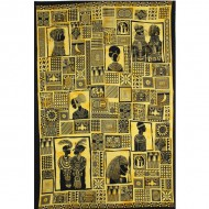 Tenture africaine portrait de villageoise