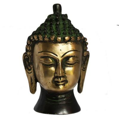 Statuette tête de Bouddha - Statuette Indienne (stabtb03b)