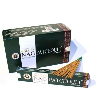 """Encens indien """"Golden Nag Patchouli"""" (nagpat12/15)"""