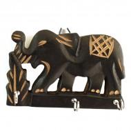 """Accroche clé mural """"Elephant"""" (acclé02el)"""