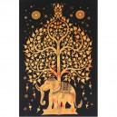 Tenture Indienne Eléphant (tmm201j)