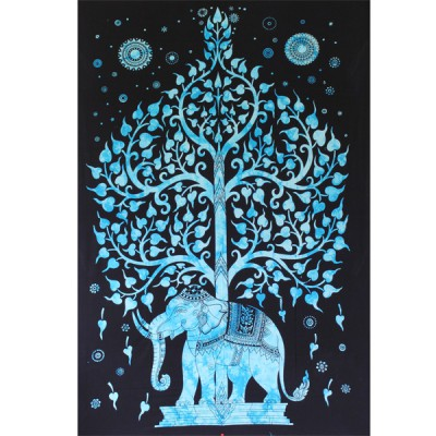 """Tenture Indienne """"Eléphant"""" (tmm202t)"""