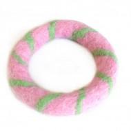 Bracelet rose en Laine bouillie (brneplb01r)