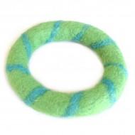 Bracelet Vert en Laine bouillie (brneplb05v)