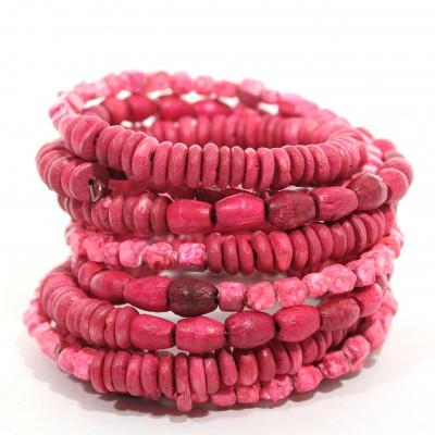 Bracelet Indien Rose - Bracelet multitours
