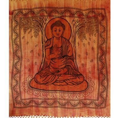 "Tenture Brossée ""Bouddha""(tgm066/2)"