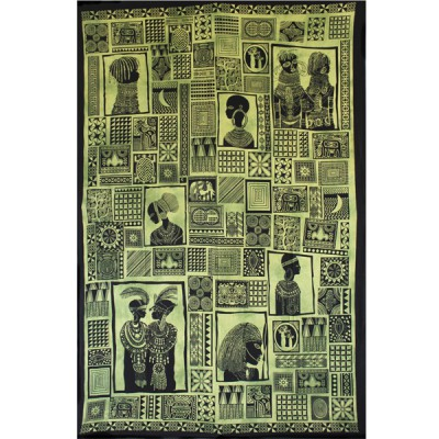 """Tenture Murale """"Portraits d'Afrique"""" (tmm216)"""