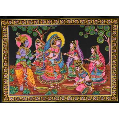 "Tenture Batik ""Fête indienne"" (ptbfl014)"