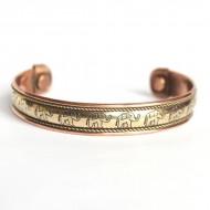 Bracelet Cuivre et aimants Motifs Eléphant