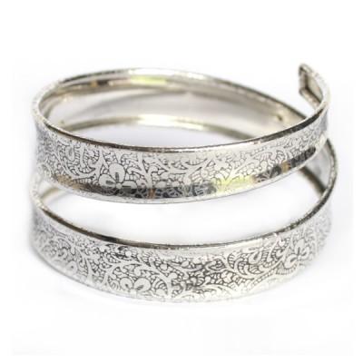 Bracelet Indien Motifs Floraux - Bracelet en métal (005/2)