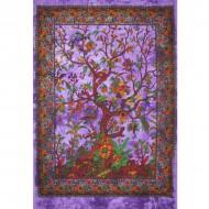 Tenture Indienne mettant en scène une representation de l'arbre de Vie