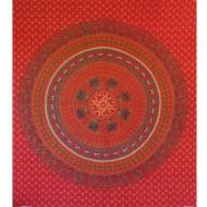 Tenture murale mandala rouge - Artisanat indien