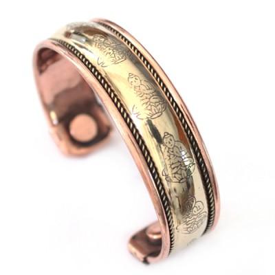 """Bracelet Cuivre et Aimants """"Bouddha""""(brcuig002)"""