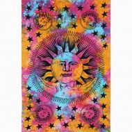 "Tenture Murale ""Solei et Lune""(tmm245)"