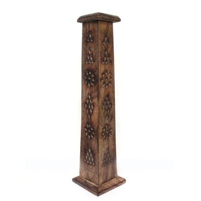 Porte Encens Vertical en bois sculpté (pegr010/2)