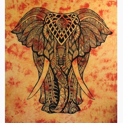 "Tenture Indienne ""Eléphant"" (tgm176j)"