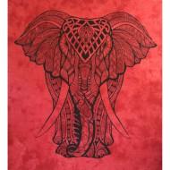 """Tenture Indienne """"Eléphant"""" (tgm177r)"""