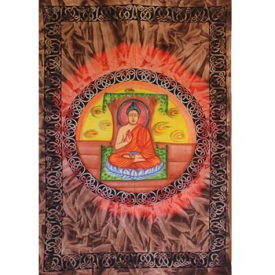 "Tenture Peinte ""Bouddha""(tmm197/4)"