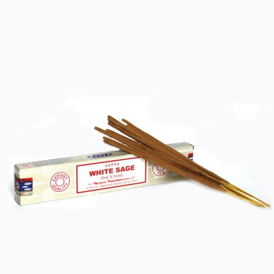 """Encens indien """"White Sage""""- Sauge Blanche (wsagesat1/15)"""