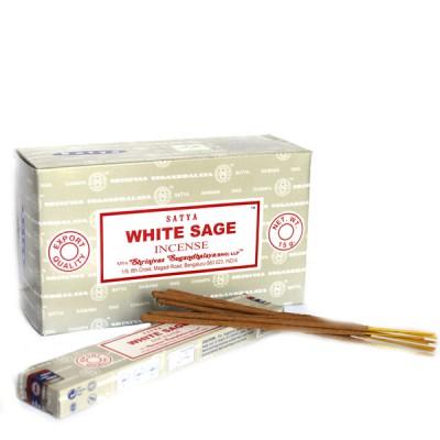 "Encens indien ""Whithe Sage""-""Sauge Blanche"" de Satya (wsagsat12/15)"