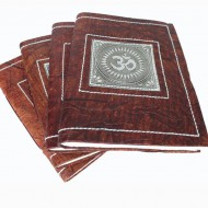 "Carnets indiens grand model. Motifs ""Om"" ""Ganesh"" ""Elephant"" ""Paon"""