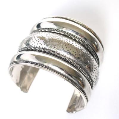 Bracelet Indien - Bracelet en métal blanc (brinmet01L)
