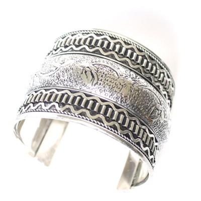 Bracelet Indien - Bracelet en métal blanc (brinmet02L)