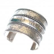 Bracelet Indien - Bracelet en métal blanc (brinmet10L)