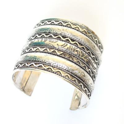Bracelet Indien - Bracelet en métal blanc (brinmet12L)