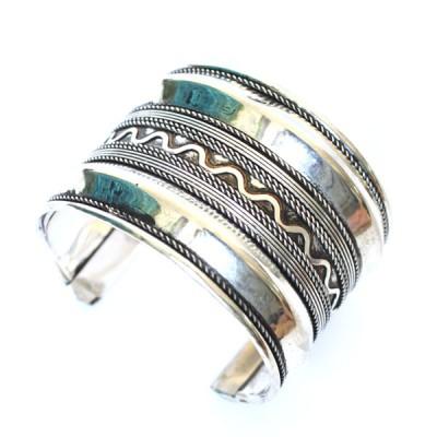 Bracelet Indien - Bracelet en métal blanc (brinmet13L)