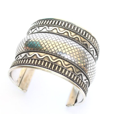 Bracelet Indien - Bracelet en métal blanc (brinmet18L)