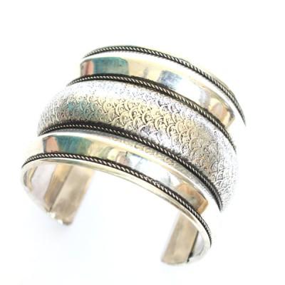 Bracelet Indien - Bracelet en métal blanc (brinmet15L)