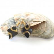 Boucles d'oreilles losange Indiennes (bineo030x)
