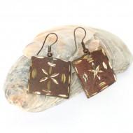 Boucles d'oreilles carré Indiennes (bineo032x)