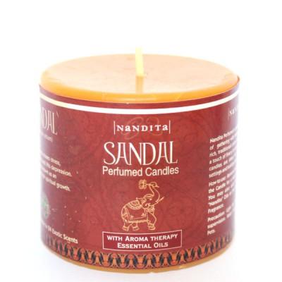 """Bougie Indienne Parfumée """"Sandal""""- """"Bois de Santal"""" (bpi02san)"""