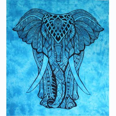 """Tenture Indienne """"Eléphant"""" (tgm182b)"""