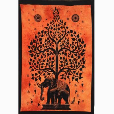 """Tenture Indienne """"Eléphant"""" (tptel04o)"""