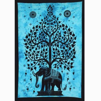 """Tenture Indienne """"Eléphant"""" (tptel05b)"""