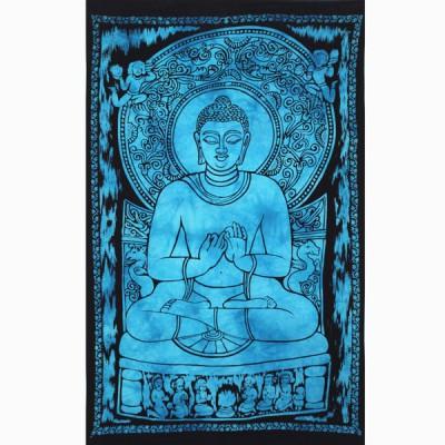 """Tenture Indienne """"Bouddha"""" (tptboud01bt)"""