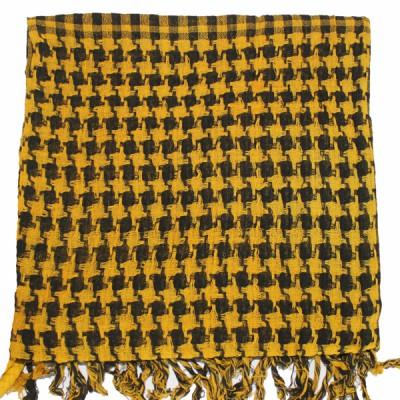 """Keffieh couleur """"moutarde"""" à carreaux(017)"""