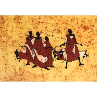 """Tenture batik """"Massaï""""(tb010/3)"""