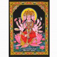 """Tenture Batik """"Durga"""" (ptbfl19)"""