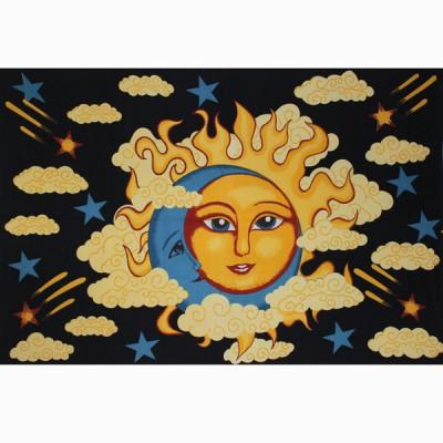 "Tenture Murale ""Lune et Soleil"" (tmm262)"