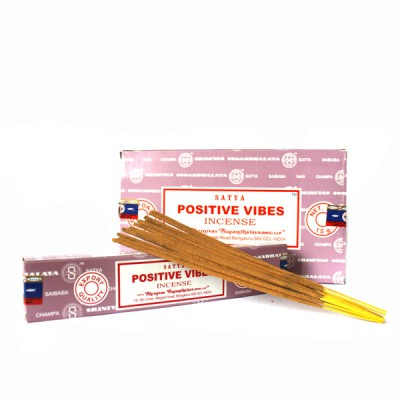 """Encens indien """"Positive Vibe"""" de Satya (posvisat12/15)"""
