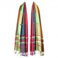 Echarpe Indienne Multicolore