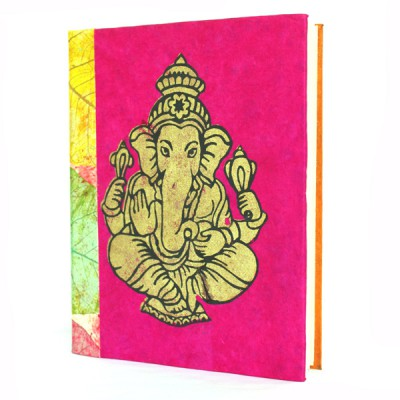 "Carnet en papier népalais motif ""Ganesh"" (cpngan01g)"